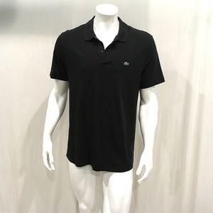 Lacoste Mens Black Polo Shirt.